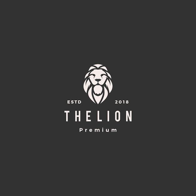 Lion logo vector icon illustration Premium Vector