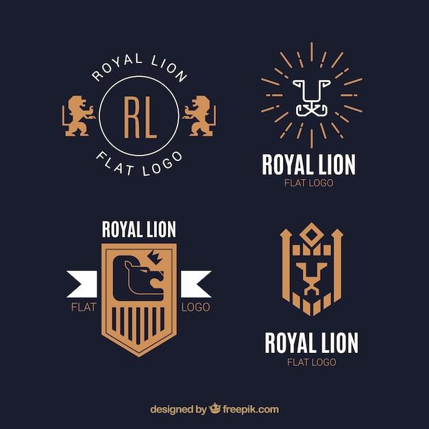 Lion logos, elegant style
