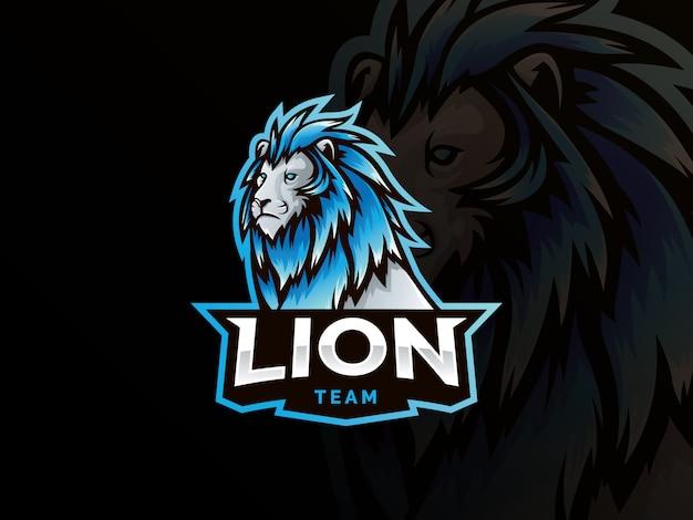 Lion mascot sport style logo Premium Vector