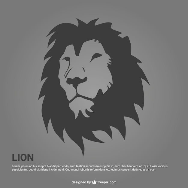 Lion portrait illustration Free Vector