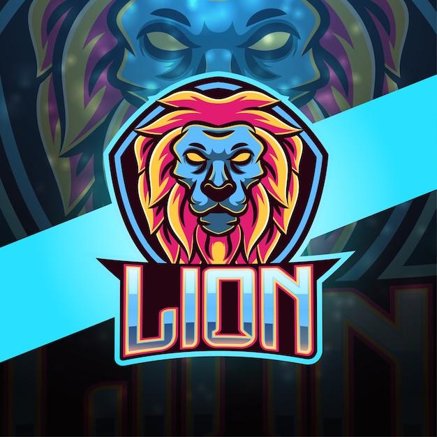 Дизайн логотипа талисмана льва Premium векторы