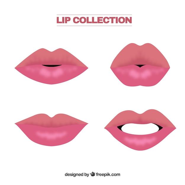 Lip collectio Free Vector