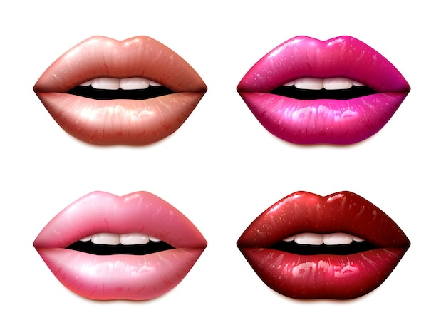 Lipstic samples set Free Vector