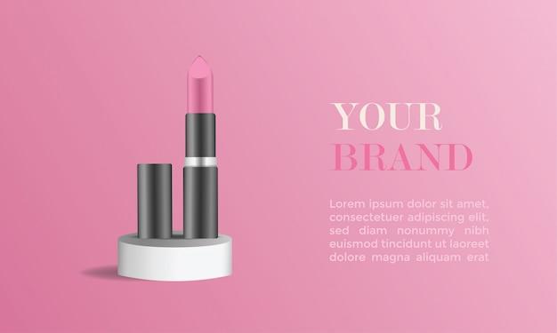 Lipstic реклама Premium векторы
