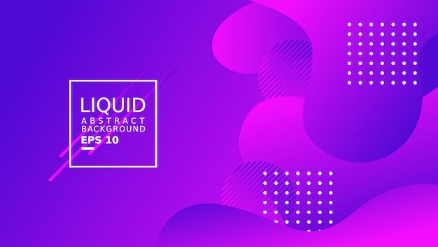 Liquid abstract background template. purple color. Premium Vector