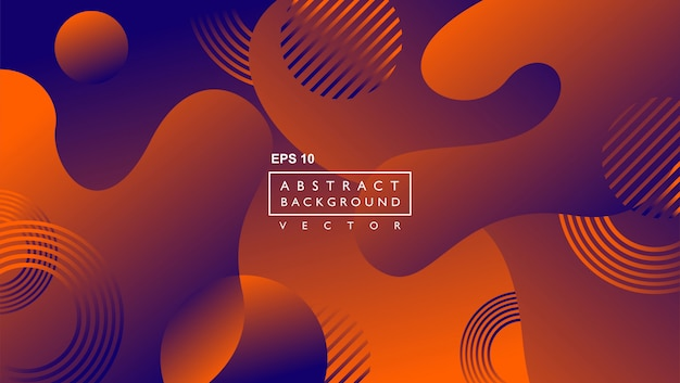 Liquid abstract background template. with circle and lines shape. brown Premium Vector