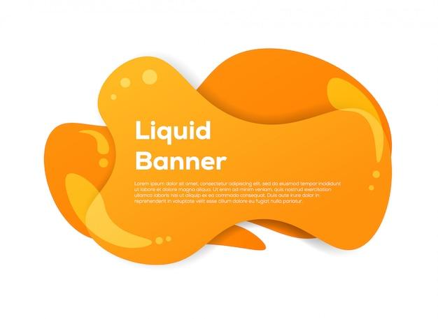 Liquid abstract banner Premium Vector