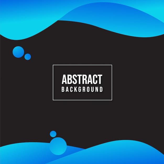 Liquid background blue and black Premium Vector