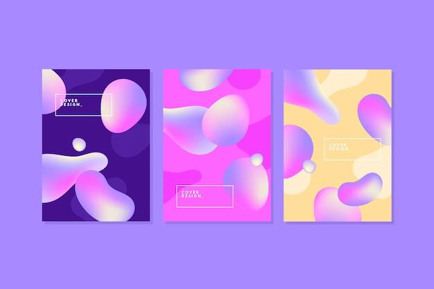 Жидкие пузыри абстрактный шаблон обложки Бесплатные векторы