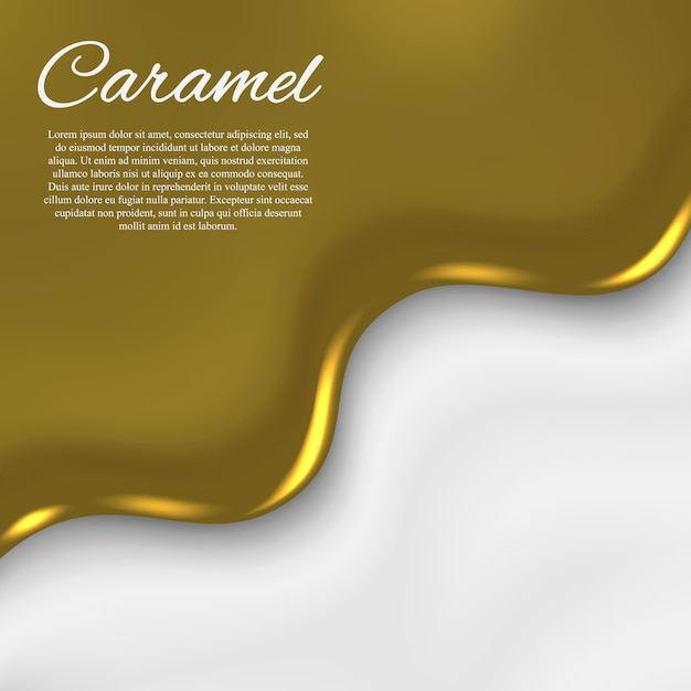 Liquid caramel background Premium Vector