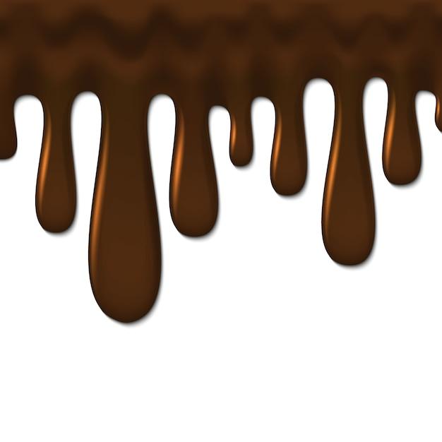 液体チョコレートの背景、 Premiumベクター