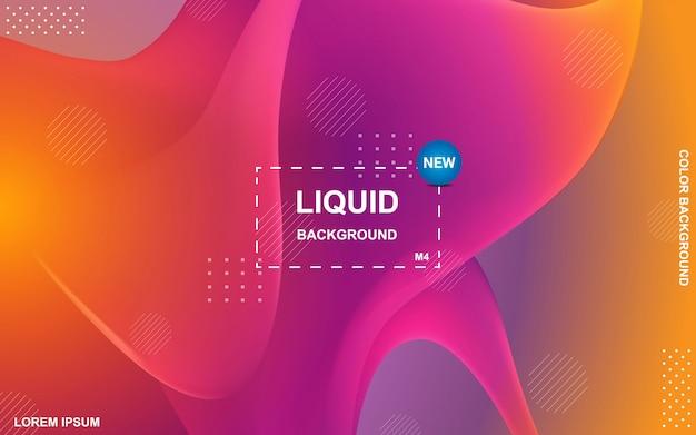 Liquid color background design. fluid gradient shapes composition Premium Vector