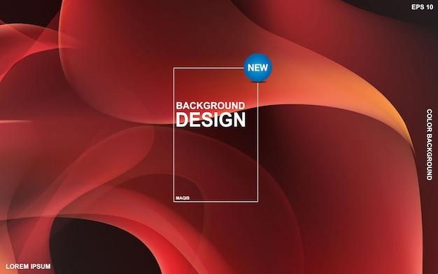 Liquid color background design. fluid gradient shapes composition. Premium Vector