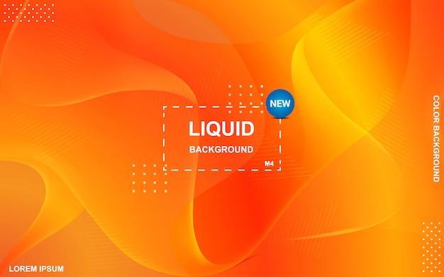 Liquid color background design Premium Vector