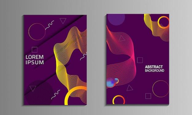 Liquid colorful cover book Premium Vector