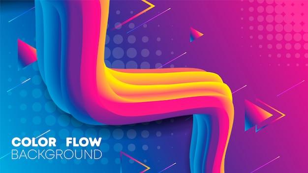 Liquid gradient color background Premium Vector