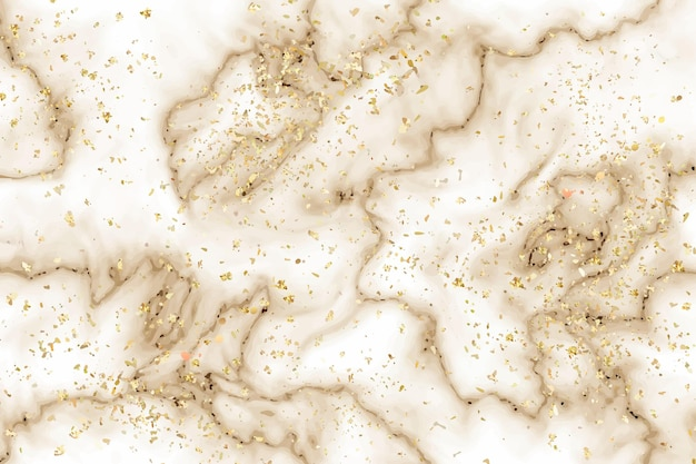 Liquid marble background with gold splatter Free Vector