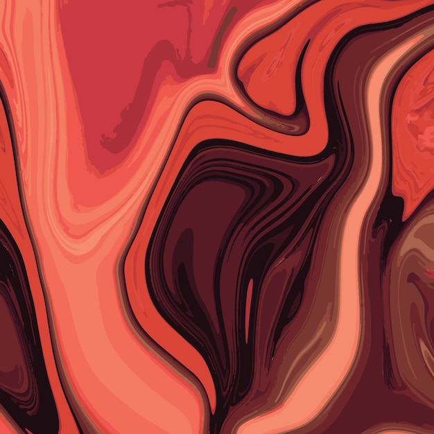 Liquid marble texture design, colorful marbling surface, vibrant abstract paint design Premium Vector