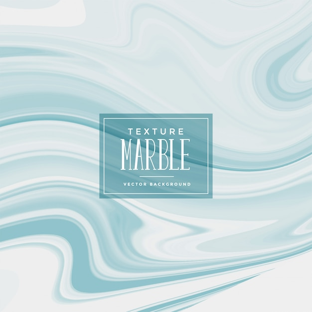 Liquid marble texture in soft blue color Free Vector