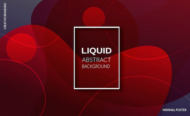 Liquid red color background. futuristic design posters. Free Vector