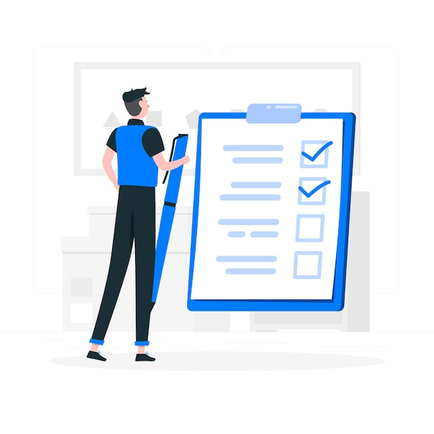 To do list concept illustration Free Vector
