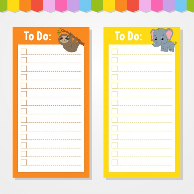 To do list for kids. Premium Vector