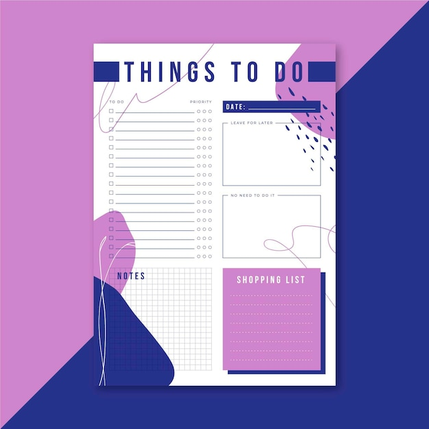 To do list Free Vector