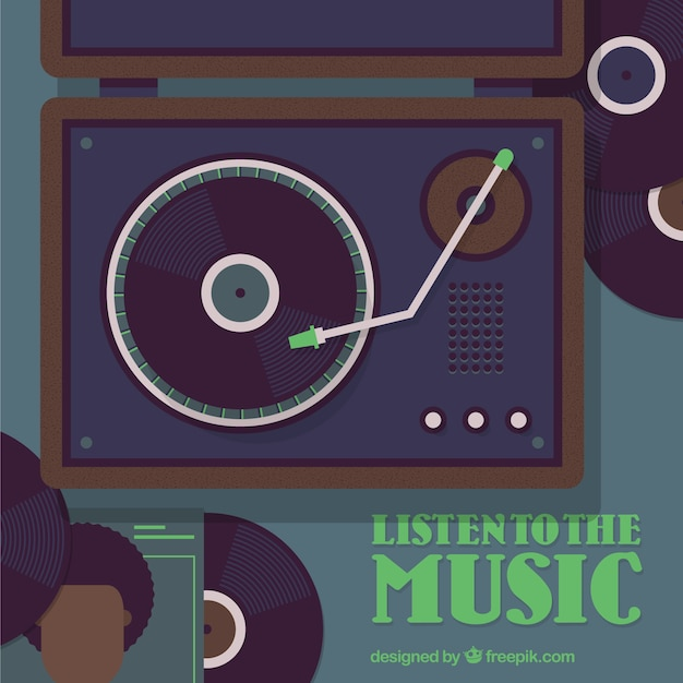 Listen To Music Vector Free Download