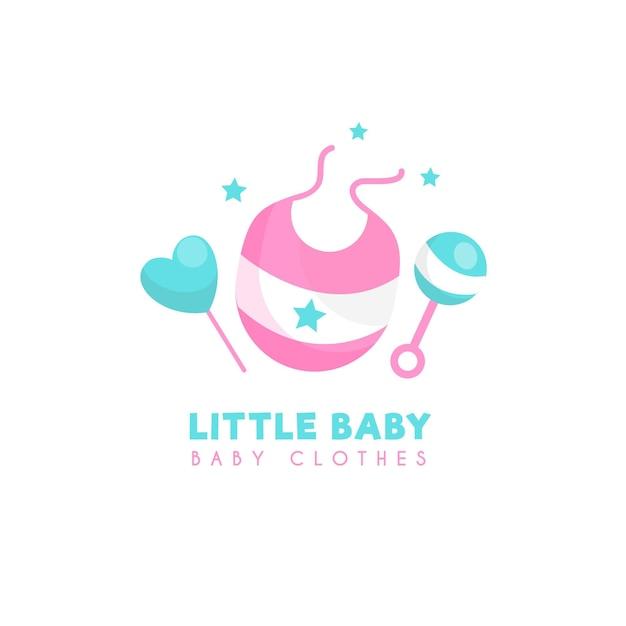 Шаблон логотипа маленькой детской одежды Бесплатные векторы