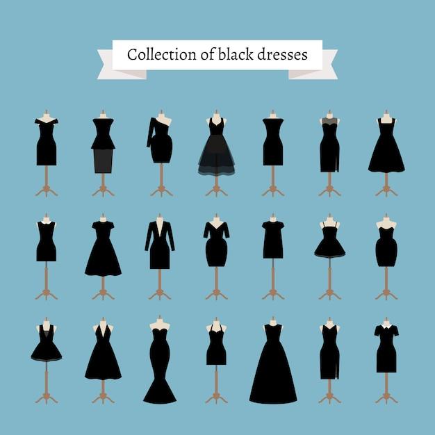 リトルブラックドレス Premiumベクター