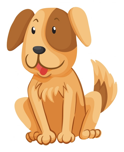 Little dog with brown fur Free Vector