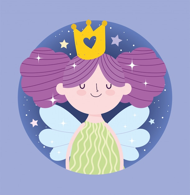 Premium Vector Little Fairy Princess With Wings And Gold Crown Tale Cartoon Huge collection, amazing choice, 100+ million high quality, affordable rf and rm images. https www freepik com profile preagreement getstarted 9401467