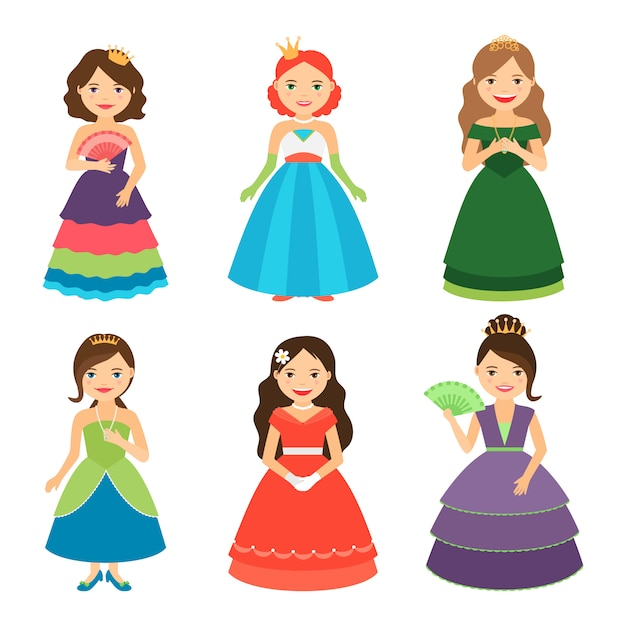 Little princess girls Premium Vector