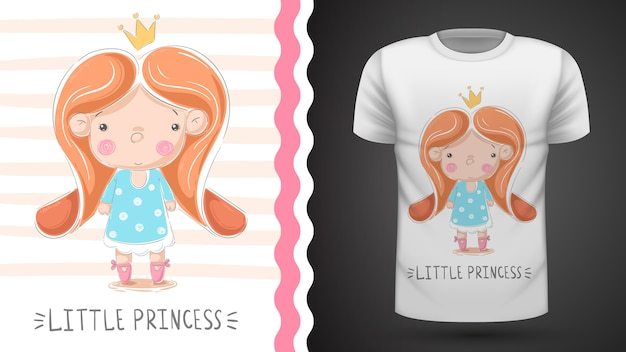 Little princess - idea for print t-shirt Premium Vector