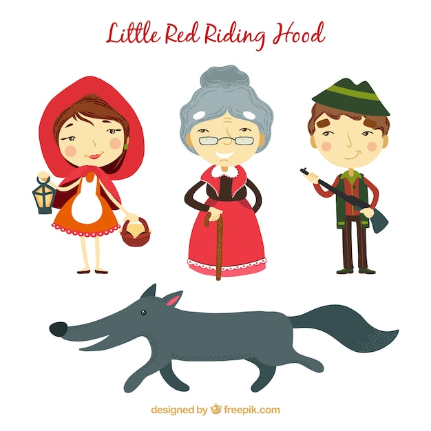 essays characters little red riding hood The stories little red riding hood, by charles perrault, and little red cap, by the brothers grimm, are similar and different moreover, both stories differ from the american version the stories have a similar moral at the end, each with a slight twist.