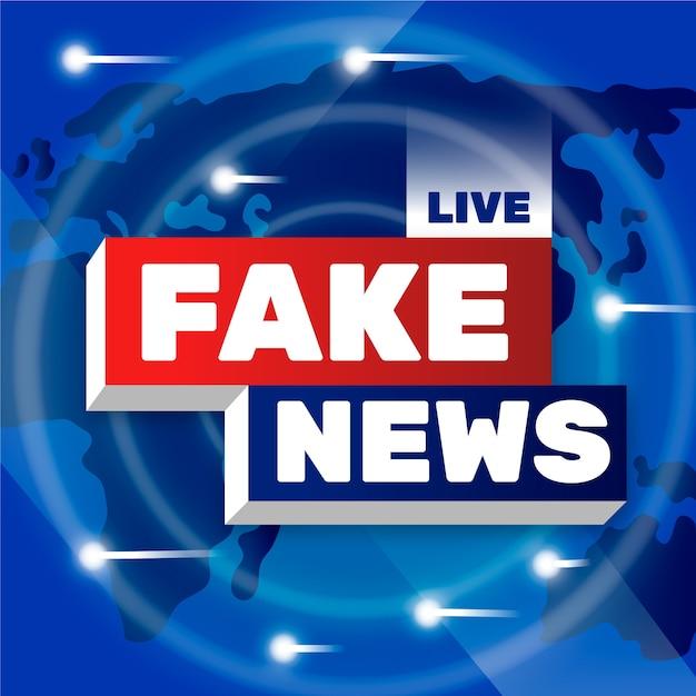 Progetto di sfondo di notizie false dal vivo Vettore gratuito