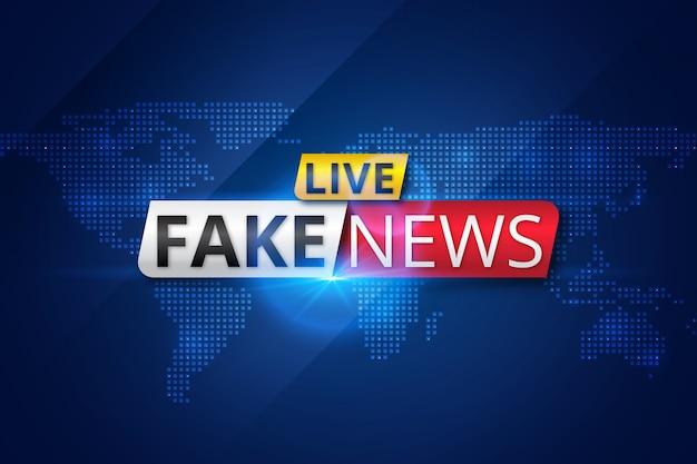 Live fake news broadcast Free Vector