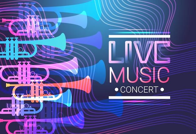 Live music concert poster festival banner Premium Vector