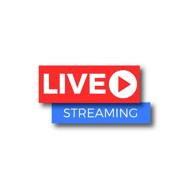 Live streaming banner Premium Vector