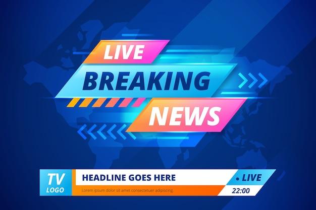 ライブストリーミング速報ニュースバナー 無料ベクター