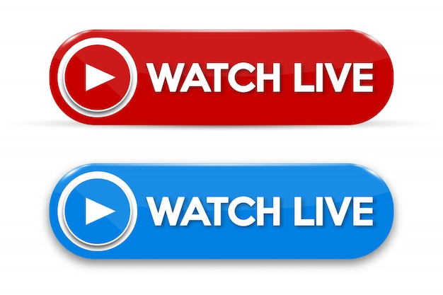 Live streaming concept isolated icon Premium Vector