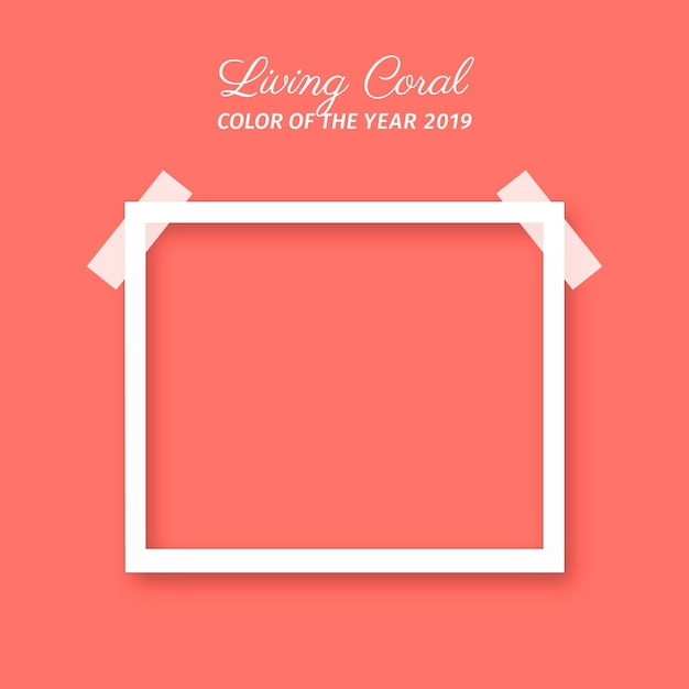 Living coral background Free Vector