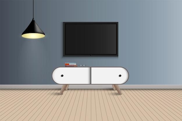 Дизайн гостиной и декора Premium векторы