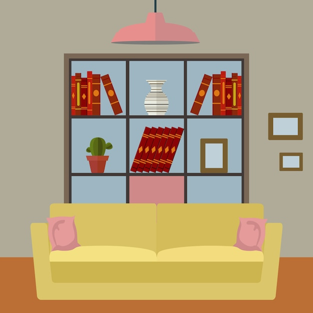 Living room background design vector free download for Room design vector