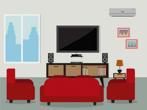 Living room background design vector premium download for Room design vector