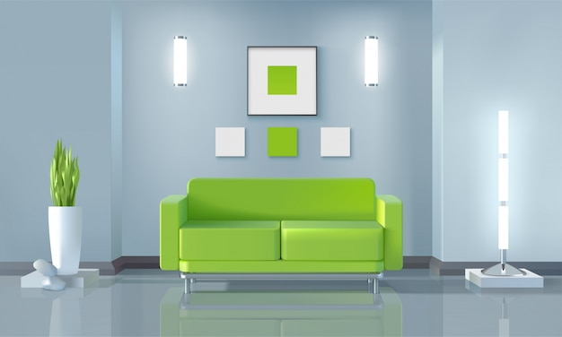 Living room design Free Vector