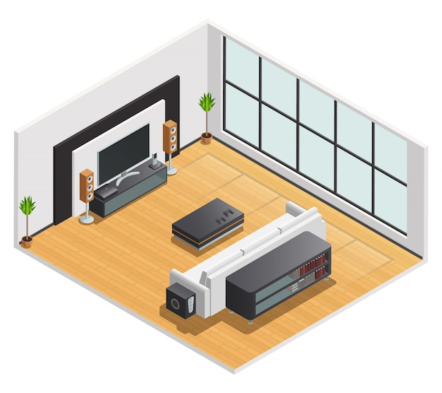 Living room or hotel lounge Free Vector