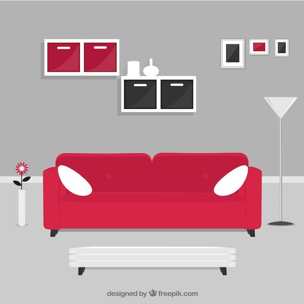 Living Room In Modern Style Vector Premium Download