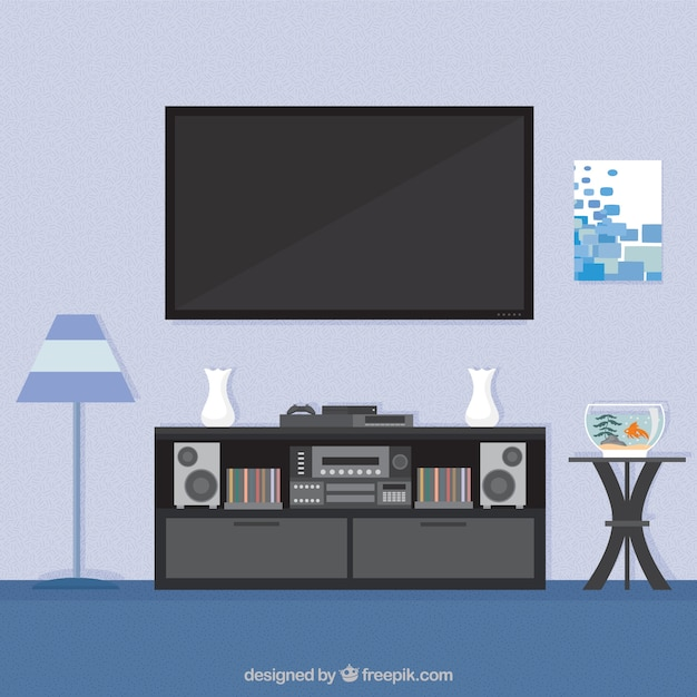 Living room interior vector free download for Room design vector