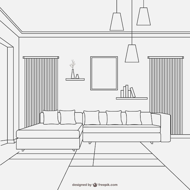 Interior vectors photos and psd files free download for Interior design images vector